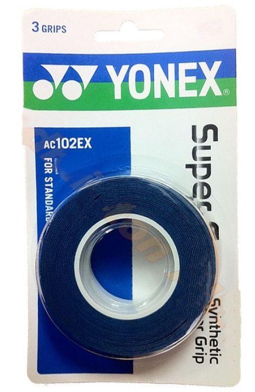 Yonex SUPER GRAB 3 STUKS Blauw