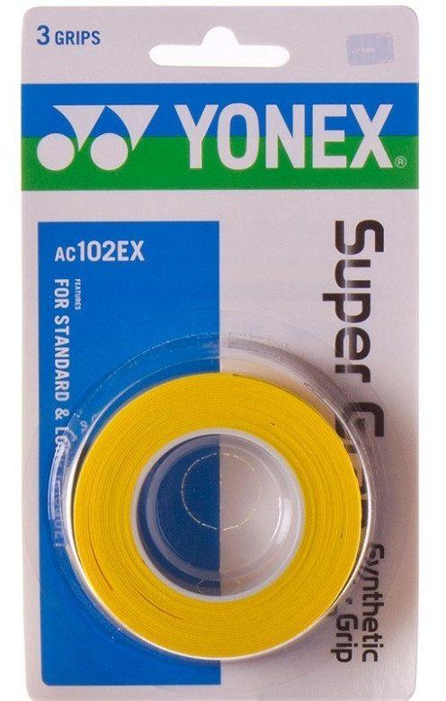 Yonex SUPER GRAB 3 STUKS Geel