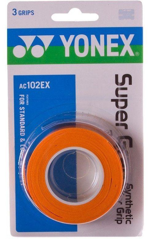 Yonex SUPER GRAB 3 STUKS Oranje