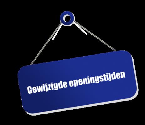 Wijziging openingstijden week 27 t/m 33 1