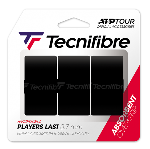 Tecnifibre Players Last 0.7 mm (3stuks) Zwart